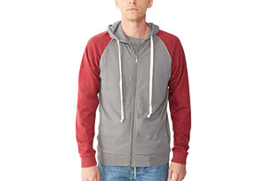 Alternative Apparel Light French Terry Zip Hoodie - Men's