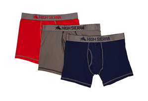 High Sierra 3-Pack Performance Boxer Brief - Men's