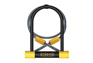 OnGuard Bulldog DT U-Lock w/ 4' Cable