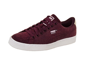 Puma Basket Classic Embossed Wool Shoes - Men's