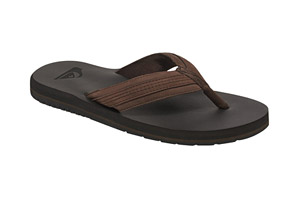 Quiksilver Coastal Oasis Leather Thongs - Men's
