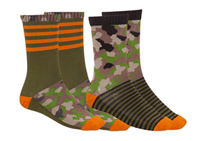 Wilder & Sons Camo and Stripe Sock - 2 Pack
