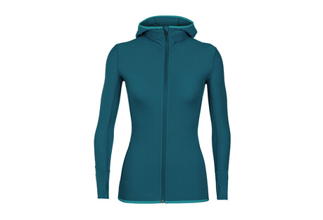 Descender LS Zip Hood - Women's
