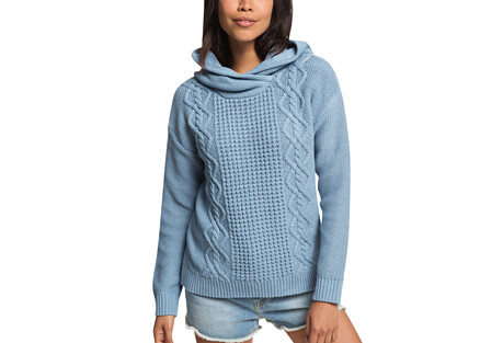 Off To Dinner Knitted Hoodie - Women's