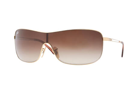 Metal Shield Frame Sunglasses - Women's